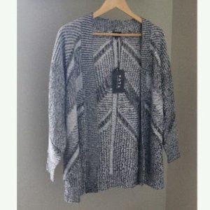 Fate Open Front Cardigan Sweater Mixed Print Boho